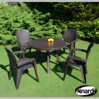Nardi Coffee Toscana 100 Plain with 4 Creta Wicker Chair Set
