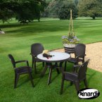 Nardi Coffee Toscana 100 Ravenna with 4 Creta Chair Set