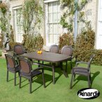 Nardi Coffee Toscana 165 Plain with 6 Beta Chair Set