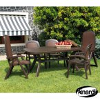 Nardi Coffee Toscana 165 Plain with 2 Delta & 4 Beta Chair Set