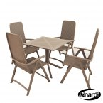 Nardi Clip Table & 4 Darsena Chairs Set - Turtle Dove Grey