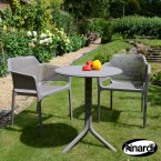 Nardi Step Table & 2 Net Chairs Set - Turtle Dove Grey