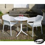 Nardi Step Table & 2 Net Chairs Set - White