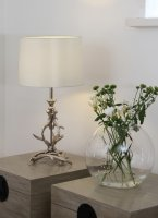 Pacific Lifestyle Glencoe Antique Silver Metal Antler Table Lamp