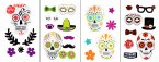Premier Decorations Halloween Gel Window Stickers - Assorted Day of the Dead