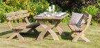 Zest4Leisure Harriet Table & 2 Bench Set