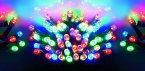 Premier Decorations Battery Operated Static & Flashing 35 LED Lights - Multicoloured