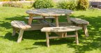 Zest4Leisure Rose Round Picnic Table