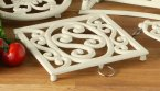 Premier Cast Iron Trivet in Cream