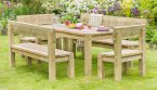 Zest4Leisure Philippa Table, 2 Bench and 2 Chair Set