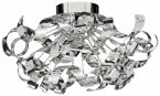 Searchlight Curls 12 Light Chrome Flush Ceiling Light with Glass Beads