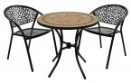 Exclusive Garden Richmond 76cm Bistro with 2 Florence Chairs