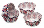 Sweetly Does It Mini Paper Bun Cases Union Jack Flag 4,5cm, Pack of 80