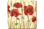 Creative Tops Coasters (Set of 6) Field Poppies