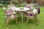 Zest4Leisure Abbey Round Table & 4 Chair Set