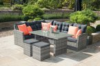 Pacific Lifestyle Cayman Mixed Grey 5 Piece Relaxed Dining Set