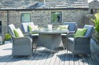 Pacific Lifestyle Slate Grey Barbados 4 Seater Round Dining Set