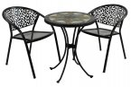 Exclusive Garden Montilla 60cm Bistro with 2 Florence Chairs