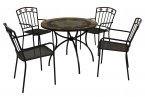 Exclusive Garden Villena 91cm Patio with 4 Malaga Chairs