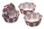 Sweetly Does It Petit Paper Bun Cases Union Jack Flag 4cm, Pack of 80