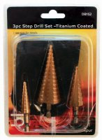 Blackspur 3 Piece Step Drill Set