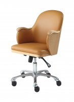 Jual San Francisco Executive Office Chair in Oak & Tan Faux Leather