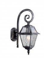 Searchlight Genoa 1 Light Outdoor Wall Bracket - Black/Silver