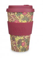 Ecoffee Cup 14oz William Morris Seaweed with Maroon Silicone