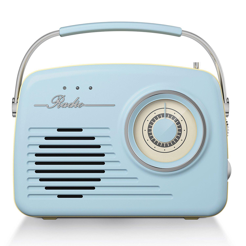 Akai Am Fm Retro Radio Blue At Barnitts Online Store Uk