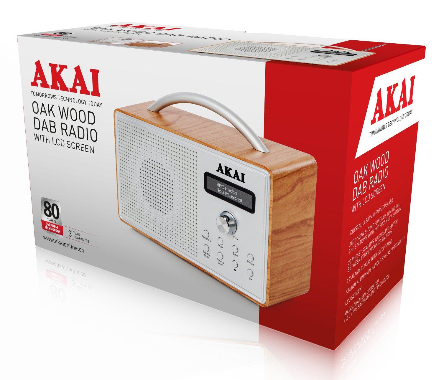 Akai Wood Dab Radio Oak With Lcd At Barnitts Online Store