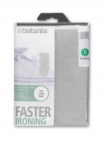 brabantia d 135x45 cover cotton 2mm foam metalised silver