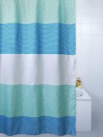 horizon blue shower curtain 180cm x 180cm