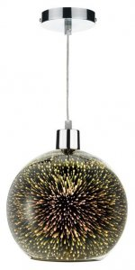 Dar KAI Easy Fit Pendant Speckled 3D Glass