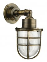 David Hunt Crewe 1 Light Down Wall Light Antique Brass IP44