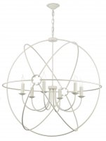 David Hunt Orb 6 Light Cream Handcrafted Pendant