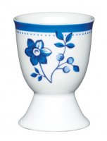 KitchenCraft Porcelain Egg Cup Blue Flower Design