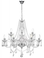 Dar Katie 9 Light Chandelier Polished Chrome Acrylic Glass
