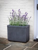 Garden Trading Bathford Rectangular Planter, Large H49cm - Fibre Clay