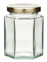 Home Made Hexagonal Jar with Twist-off Lid, 227ml