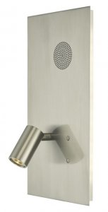 Dar Eta Wall Light Satin Nickel LED with Speaker