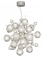 Searchlight Molecule 12 Light Chrome Pendant with Chrome Balls