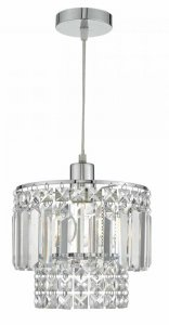 Dar Kyla Easy Fit Polished Chrome / Clear Pendant