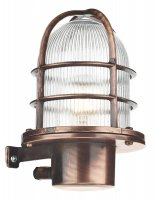 David Hunt Pier Outdoor Wall Light Antique Copper IP64