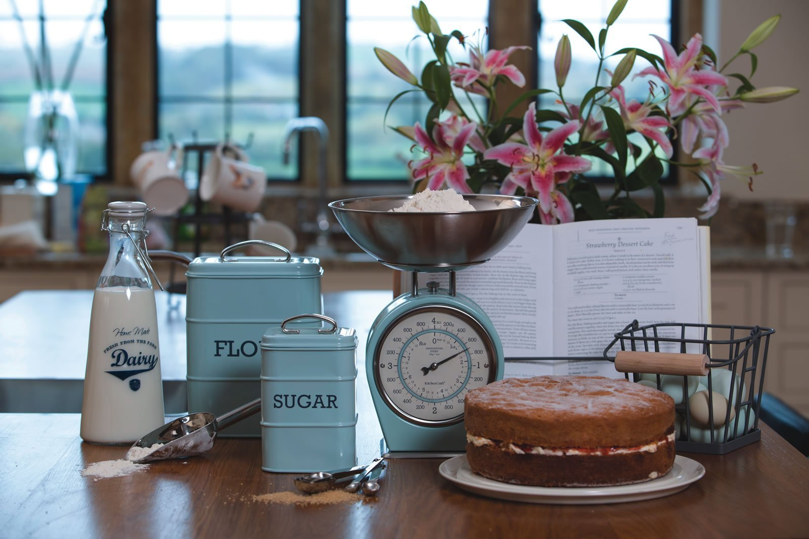 Kitchencraft Living Nostalgia Mechanical Scales Vintage Blue At