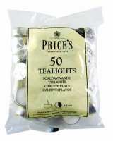 Prices White Tea Lights (Pack of 50)