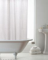 Country Club 3D Design Shower Curtain with Rings - Clear