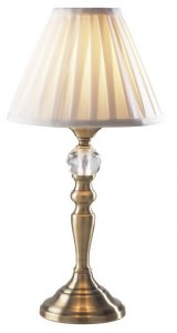 Dar Beau Touch Table Lamp Antique Brass With BEA122 Shade