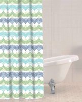 Sabichi Waves Peva Shower Curtain