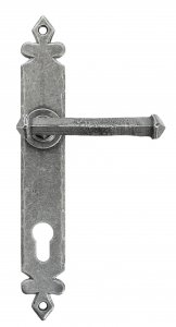 Pewter Tudor Lever Espag. Lock Set
