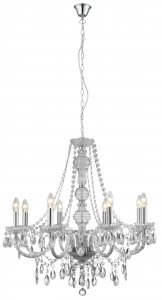 Searchlight Marie Therese 8 Light Clear Acrylic Chandelier